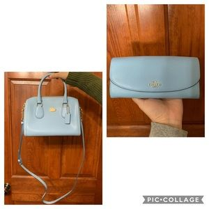 COACH matching crossbody and wallet bundle